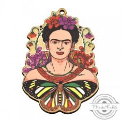 Colgante de Madera Frida Kahlo 39x55mm