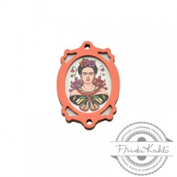 Colgante de Madera Frida Kahlo con Marco 25x35mm