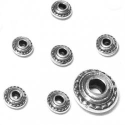 Entrepieza de Metal Zamak 5x3mm (Ø 1.4mm)