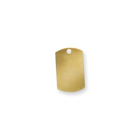 Colgante de Metal Latón Chapa Rectangular 15x25mm (Ø 2,4mm)