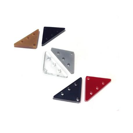Conector de Metacrilato Triangular 25x13mm (grosor 3mm)(Ø 1.8mm)