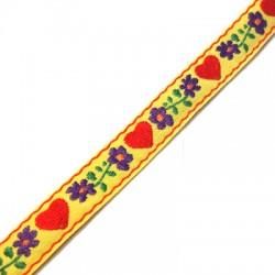 Cinta Tejida con Flores 14mm (10mtr/rollo)